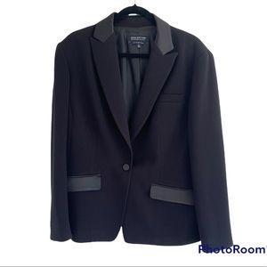 Jones New York black tuxedo style jacket